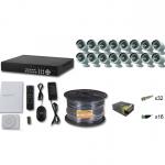 Комплект FULL HD на 16 уличных камер