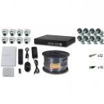 Комплект FULL HD на 8 внутренних и 8 уличных камеры