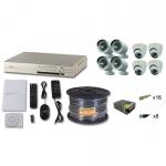 Комплект видеонаблюдения на 4 уличных и 4 внутренних камеры 5Mpx