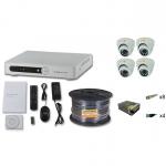 Комплект видеонаблюдения FULL HD  на 4 камеры внутренние 2Mpx 1080p