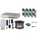 Комплект FULL HD на 8 уличных камер