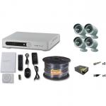 Комплект видеонаблюдения FULL HD  на 4 камеры для улицы
